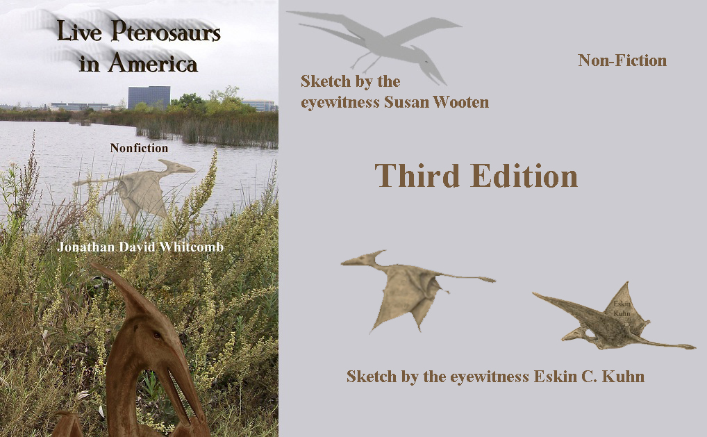 Cover of third edition of Live Pterosaurs in America - with sketches 4-A