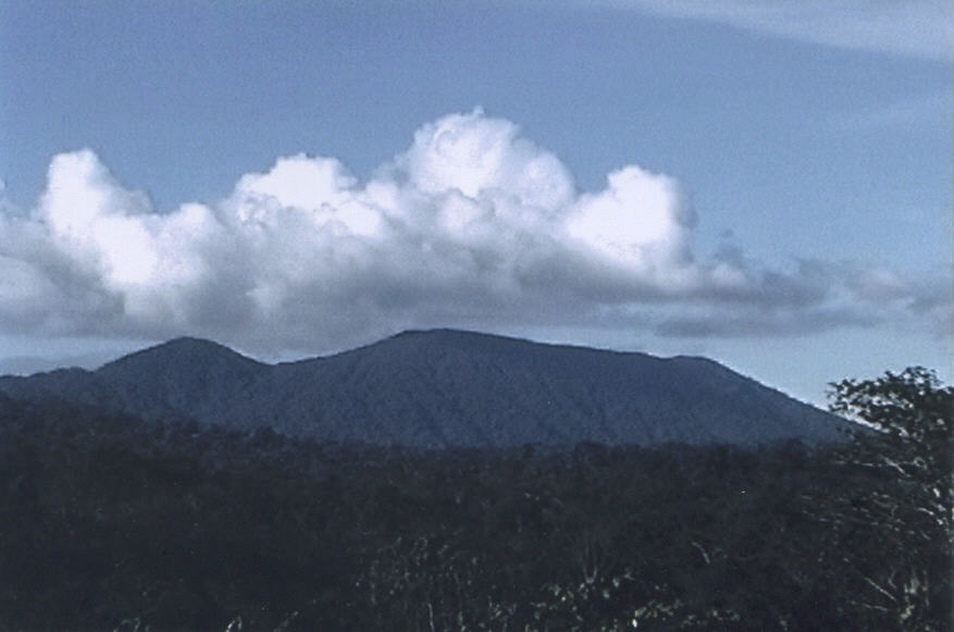 "crater mountain in Papua New Guinea - ""Mount Sual"""