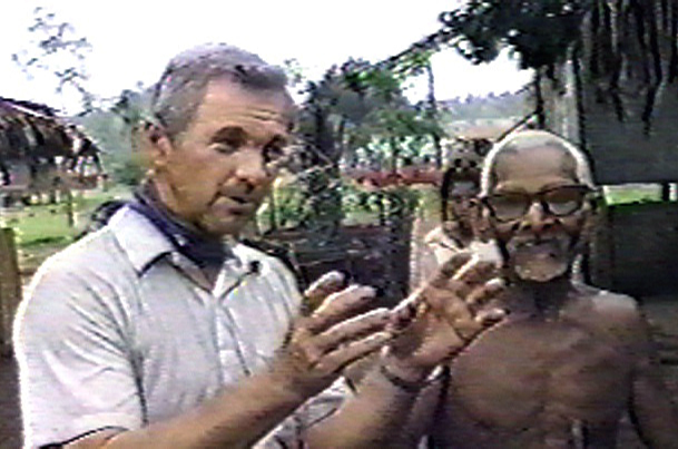 James (Jim) Blume interviewed this old native. The glowing ropen was trying to rob a human grave.
