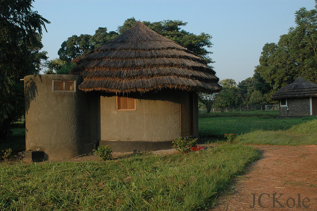 village huts in Sudan, Africa