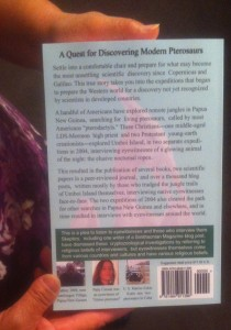 """Searching for Ropens and Finding God"" back cover"