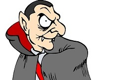 smaller image of cartoon Dracula