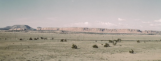 apparently desert scene in Chaves County, New Mexico