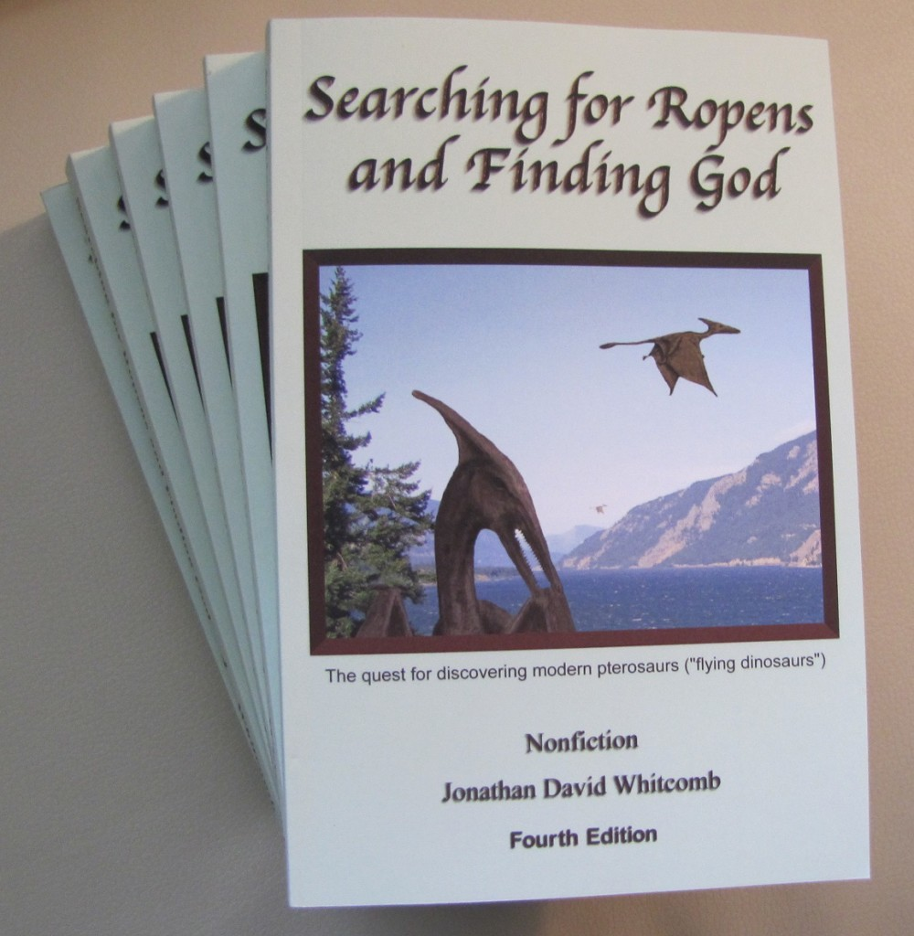 "Whitcomb's nonfiction ""Searching for Ropens and Finding God"" 3rd ed."