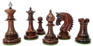"six ""black"" chess pieces"